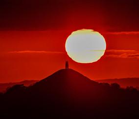 A Fiery Sunset