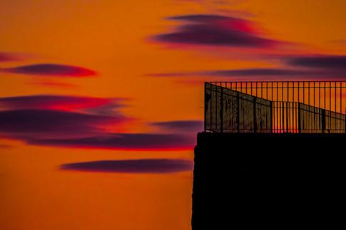 Sidmouth Sunset Railings