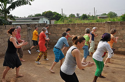 Kpanlogo dance, Afropercussion.ch Workshop in Ghana