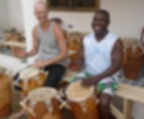 Trommel Workshop in Ghana