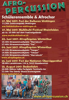 Afropercussion Schülerensemble: Konzerte 2017