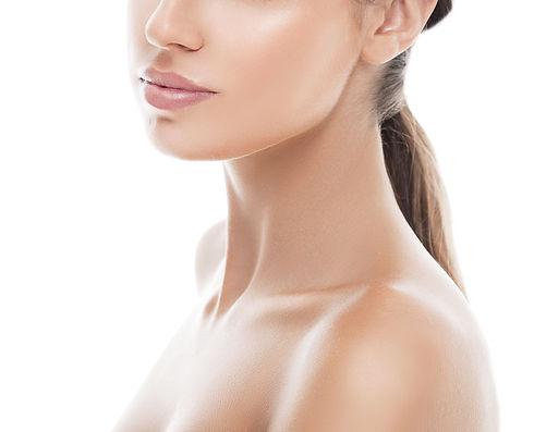 Shoulders neck lips Woman beauty portrai
