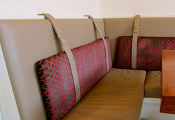 Leather Bench Seating Detail