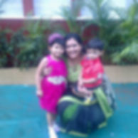 rupa with her cute kids