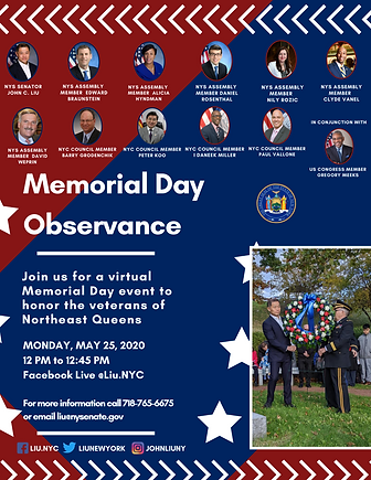 SEN. LIU - Memorial Day - Flyer - 2020.p