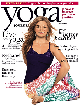 Coral Brown Yoga Journal Cover Grounding Poses for Times of Transiton