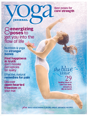Coral Brown Yoga Journal Cover The Beauty of Going with the Flow
