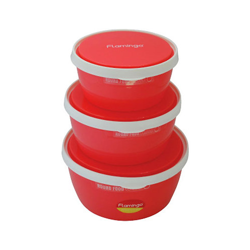 FLAMINGO AIRTIGHT FOOD CONTAINER 3 IN ONE
