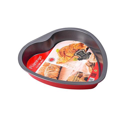 FLAMINGO HEART PAN SIZE-27.5*26.5*4.5CM
