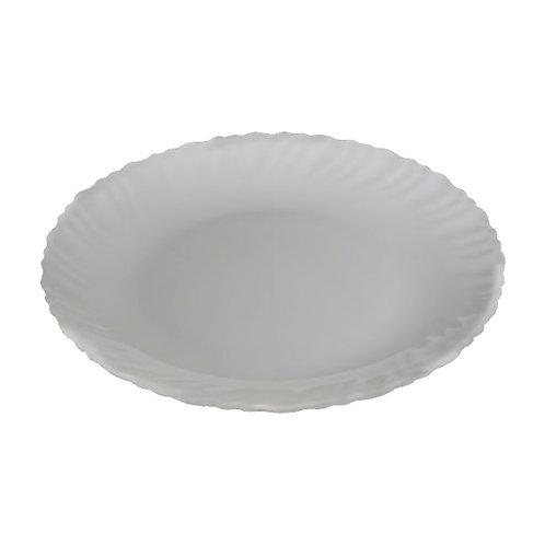 FLAMINGO OPAL WARE FLAT PLATE WHITE 8.5