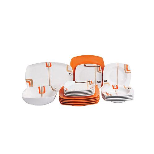FLAMINGO PORCELAIN SQUARE TYPE DINNER  SET 20 PCS