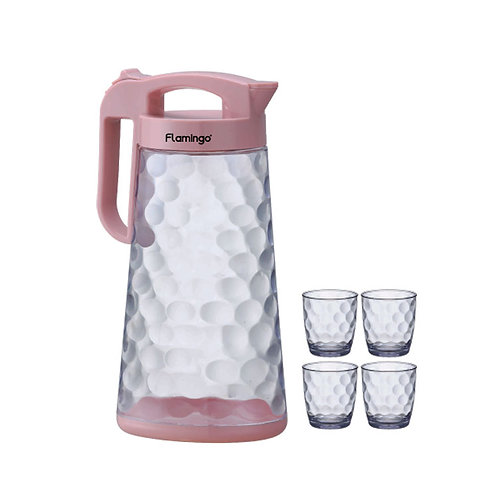 FLAMINGO 2300ML PITCHER WITH 300ML X 4 CUPS