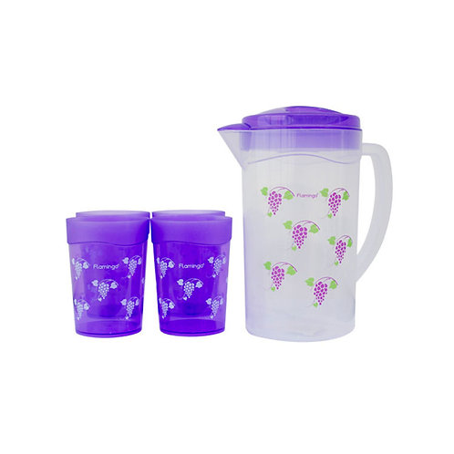FLAMINGO WATER JUG 1.6L WITH 4 CUPS