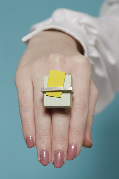 Keeping The Piece Ring - Green and Yellow