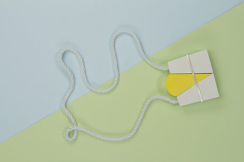Keeping The Piece - Green and Yellow neckpiece