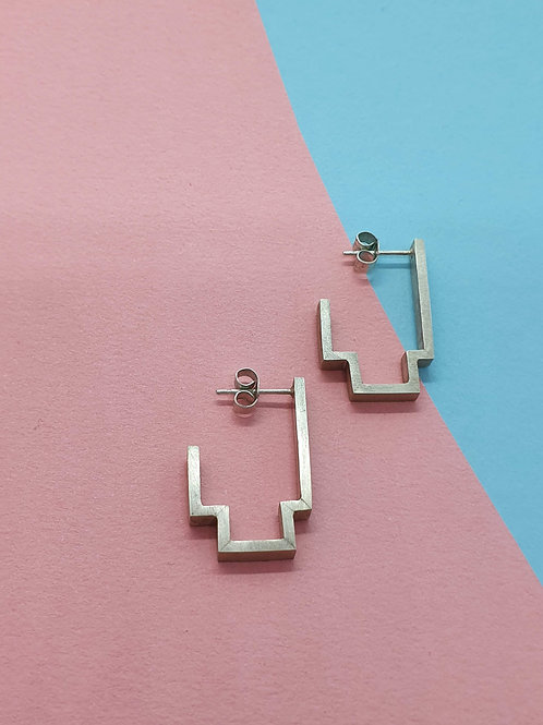 Keeping The Piece - Frame Earrings