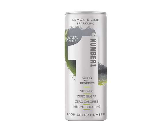NUMBER1 WATER WITH BENEFITS (250ml) x 12 - SPARKLING