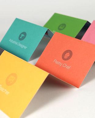 Cartes de visite colorée