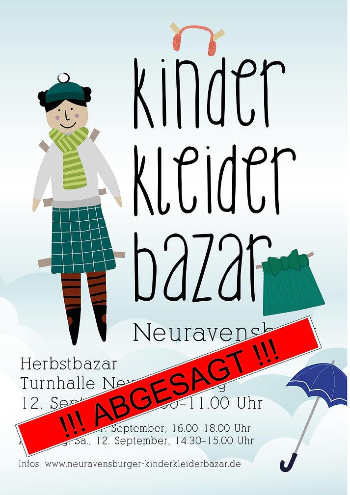 Plakat_Kinderkleiderbazar_NeuRav_Herbst