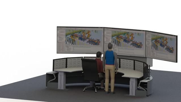 Operatorrom med storskjerm