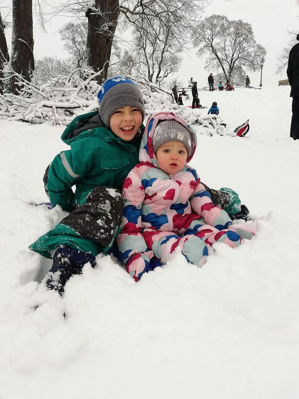 Marco e Sveva nella neve in Svezia