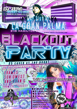Blackout party club flyer