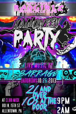 bad girlz halloween flyer