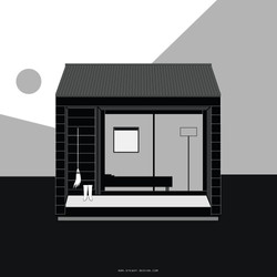 MUJI / Minimalist House Illustration [SD]