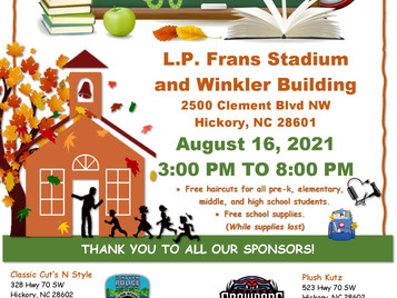Back to School Event on August 16, 2021