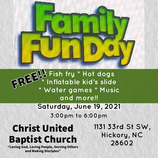 Christ United Baptist Church Family Fun Day