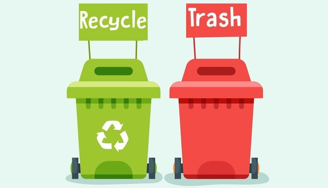 A Message from Republic Services: Items not placed in designated bins will not be picked up