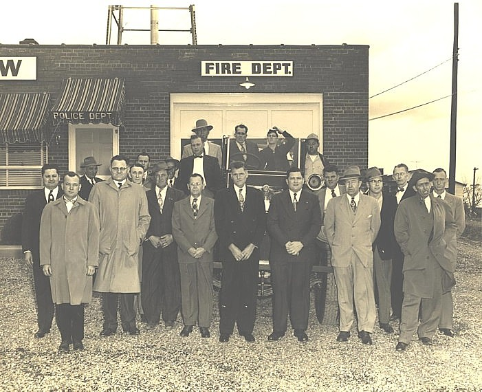 LVFD - Firefighters, Circa 1953