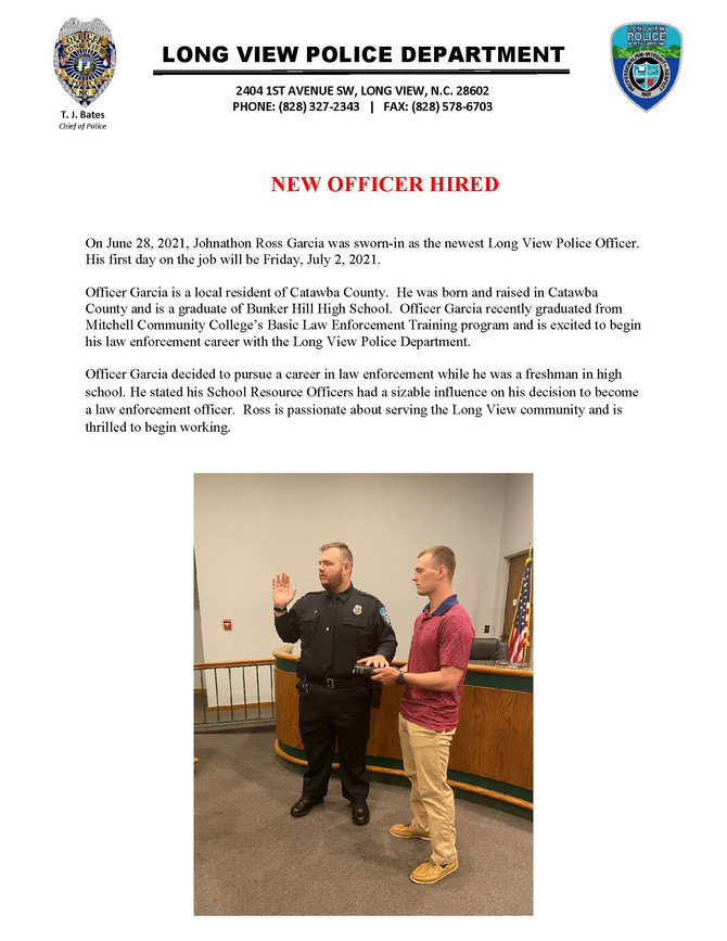 New Officer Hired
