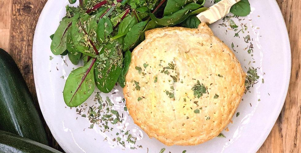 Taart butternut, mierikswortel & courgette