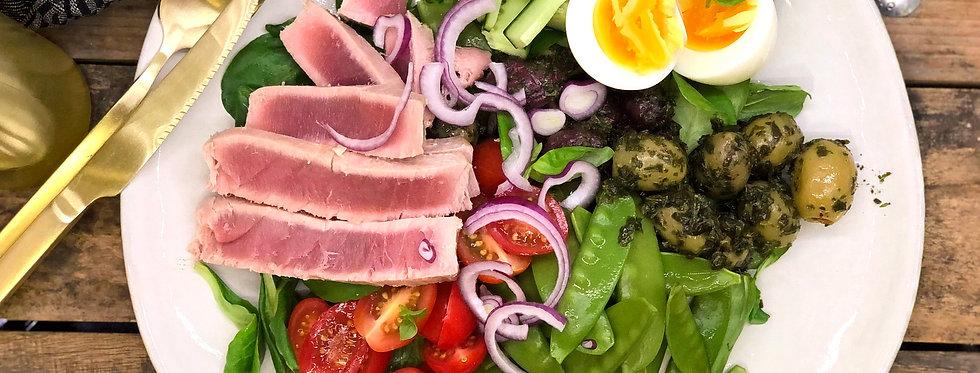 Kort gebakken tonijn