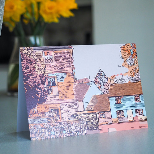 Chilterns Cottages Greetings Card: Little Missenden