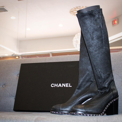 Over the knee Chanel Boots