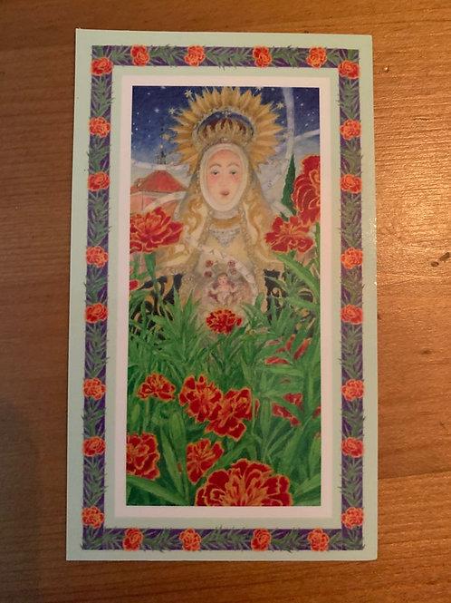Estampita Virgen de las Maravillas