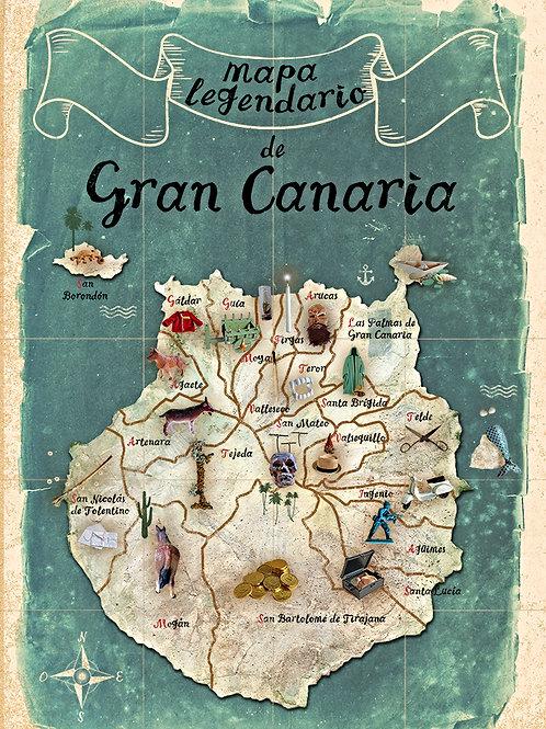 Mapa legendario de Gran Canaria