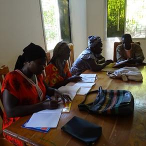 Curso de alfabetización con mujeres en la Baja Casamance, Senegal