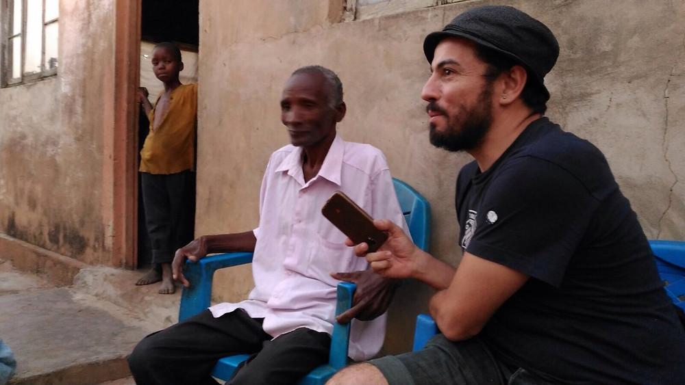 Daniel Tornero y el señor Maganha