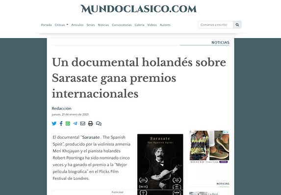 Mundo clasico article Sarasate, 21.01.21