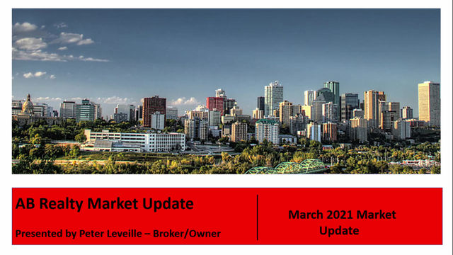 March 2021 Real Estate Market Update for Edmonton and Area