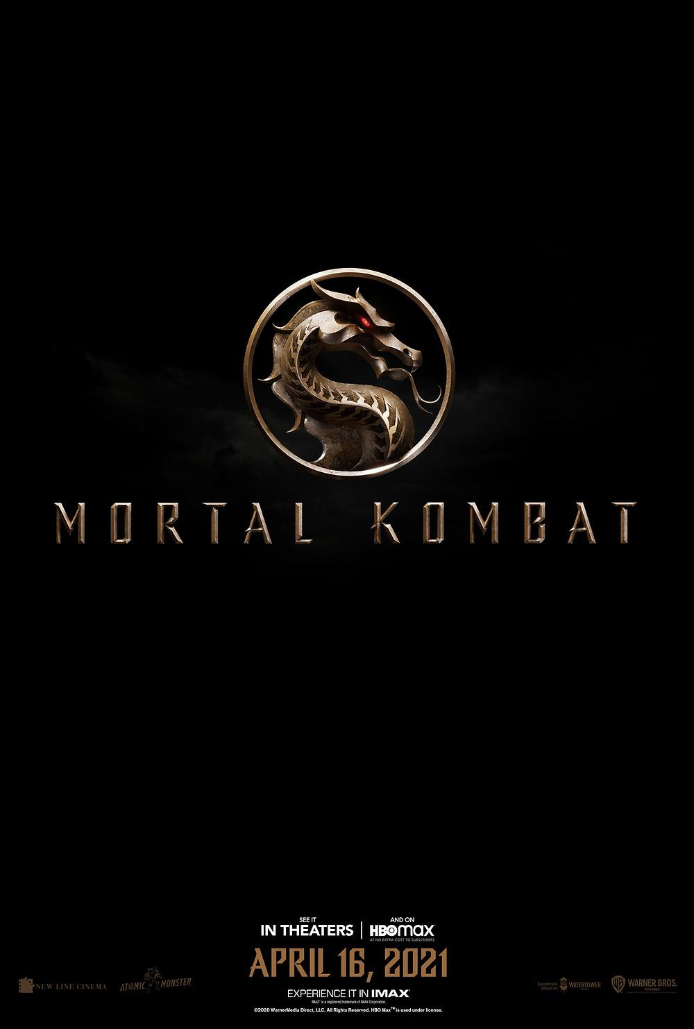 O novo cartaz e logótipo de Mortal Kombat.