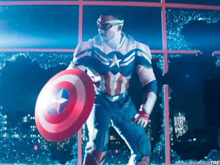 Como o fato de Capitão América de Sam se compara ao da banda desenhada