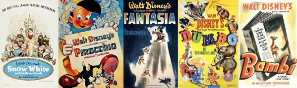 5 filmes ouro disney