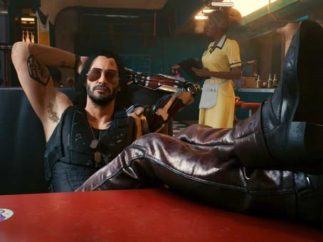 Cyberpunk 2077: Arte mostra como seria Johnny Silverhand antes de Keanu Reeves