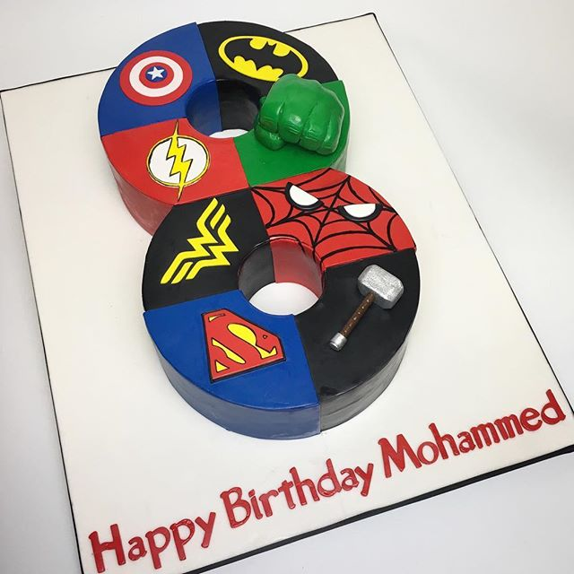 Superhero's Semi-sculpted cake