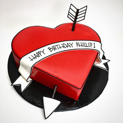Heart Semi-sculpted cake