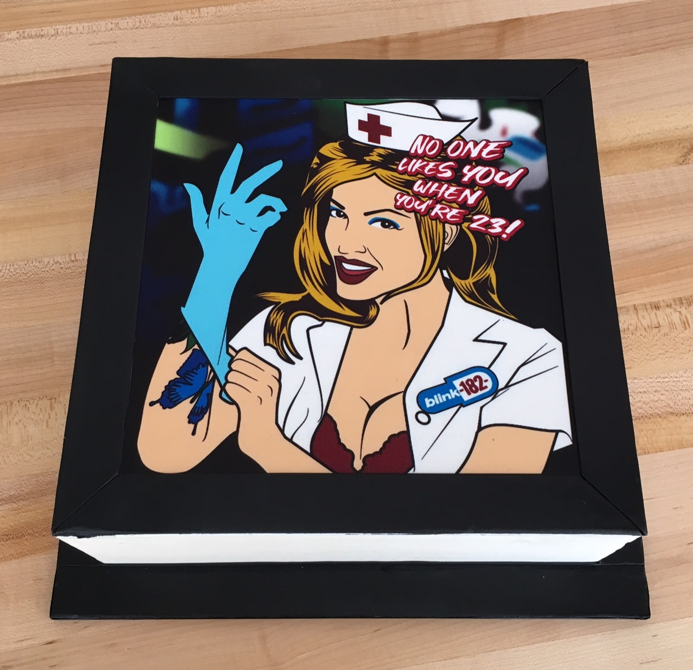 Blink 182 Edible Print Cake